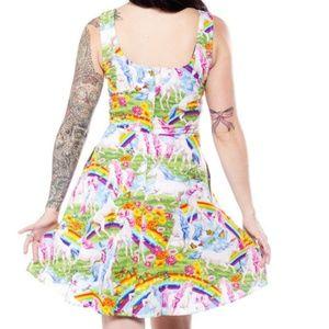 6027b55ba5acb Modcloth Dresses   Rare Retrolicious Unicorn Rainbow Dress   Poshmark